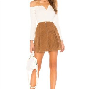 Tularosa Kendall Skirt in Toffee